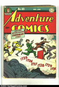 Adventure Comics #89 (DC, 1944) Condition: GD+. Cream pages. Decent looking copy. There are a couple of tears and crease...