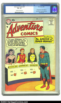 Adventure Comics #247 (DC, 1958) CGC FN+ 6.5 Off-white to white pages. First appearance of the Legion of Super-Heroes. O...
