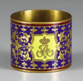 Decorative Arts, Continental:Other , Continental Champlevé Enameled Alexander II Brass NapkinRing. Circa 1870. Cylindrical, overall enameled i...