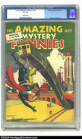 Golden Age (1938-1955):Superhero, Amazing Mystery Funnies v2 #10 (Centaur, 1939) CGC VF 8.0 Off-white pages. Overstreet 2002 VF 8.0 value = $469....