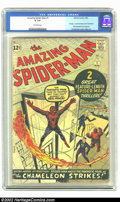 Amazing Spider-Man #1 (Marvel, 1963) CGC GD 2.0 Off-white pages. Origin of Spider-Man; Fantastic Four appearance; 1st ap...