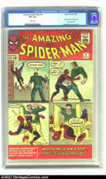 Silver Age (1956-1969):Superhero, Amazing Spider-Man #4 (Marvel, 1963) CGC VF+ 8.5 White pages. Here's a beautiful copy of this early appearance of Spider-Man...
