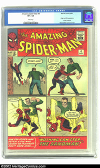 Amazing Spider-Man #4 (Marvel, 1963) CGC VF+ 8.5 White pages. Here's a beautiful copy of this early appearance of Spider...