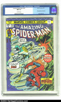 Bronze Age (1970-1979):Superhero, Amazing Spider-Man #143 (Marvel) CGC NM 9.4 Off-white pages. First appearance of Cyclone. Overstreet 2002 NM 9.4 value = $30...