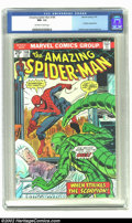 Bronze Age (1970-1979):Superhero, Amazing Spider-Man #146 (Marvel, 1975) CGC NM- 9.2 Off-white to white pages. Overstreet 2002 NM 9.4 value = $25. ...