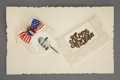 Political:Small Paper (1896-present), Theodore Roosevelt: Greeting Card with Paper Picture Pin....