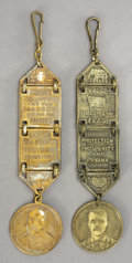 Political:Miscellaneous Political, Roosevelt and Parker: Campaign Watch Fobs... (Total: 2 Items)