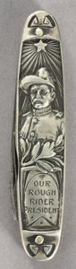 Political:3D & Other Display (1896-present), Theodore Roosevelt: Embossed Rough Rider Pocket Knife...