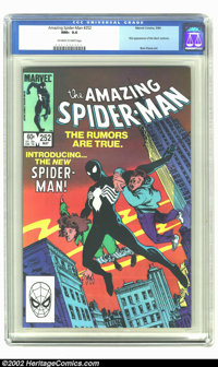 Amazing Spider-Man #252 (Marvel, 1984) CGC NM+ 9.6 Off-white to white pages. First appearance of the new costume. Overst...