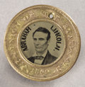 Political:Ferrotypes / Photo Badges (pre-1896), Abraham Lincoln: Rare Lincoln & Hamlin Ferrotype Variety inChoice Condition. ...
