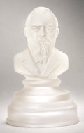 Political:3D & Other Display (pre-1896), James A. Garfield: Massive Frosted Glass Bust...