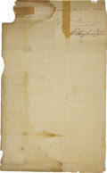 "Autographs:U.S. Presidents, George Washington Letter Signed ""Go: Washington"" asCommander-in-Chief of the Continental Army...."