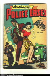 Authentic Police Cases #2 (St. John, 1948) Condition = GD. Lady Satan and Johnny Rebel appearances. Scarce crime title...
