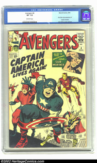 Avengers, The #4 (Marvel, 1964) CGC VF- 7.5 Off-white pages. This is undeniably one of the most important issues of the...