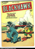 Golden Age (1938-1955):War, Blackhawk #22 (DC, 1948) Condition: FN-. Overstreet 2002 FN 6.0value = $135....