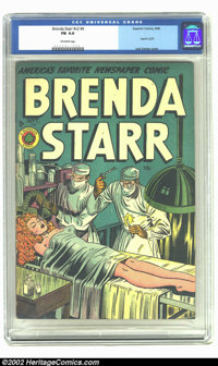 Brenda Starr Vol. 2, #4 (Four Star, 1948) CGC FN 6.0 Off-white pages. Used in the Senate Investigations on Juvenile Deli...