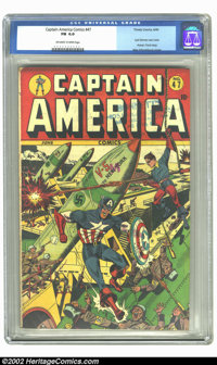 Captain America Comics #47 (Timely, 1945) CGC FN 6.0 Off-white to white pages. This issue features the last German War c...
