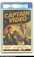 Golden Age (1938-1955):Adventure, Captain Video #1 (Fawcett, 1951) CGC FN+ 6.5 Cream to off-white pages. First TV hero comic. Photo cover and George Evans art...