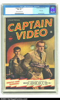 Captain Video #1 (Fawcett, 1951) CGC FN+ 6.5 Cream to off-white pages. First TV hero comic. Photo cover and George Evans...