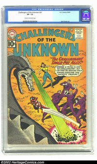 Challengers of the Unknown #21 (DC, 1961) CGC VF- 7.5 Cream to off-white pages. This great early Sixties book features t...