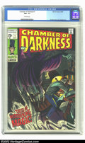 Silver Age (1956-1969):Horror, Chamber of Darkness #1 (Marvel, 1969) CGC NM- 9.2 Off-white pages.Sweet John Romita cover and John Buscema interior art. Ov...
