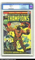 Bronze Age (1970-1979):Superhero, Champions, The #1 (Marvel, 1975) CGC NM- 9.2 White pages. Origin and first appearance of the Champions; Gil Kane cover, Don ...