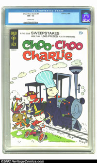 Choo-Choo Charlie #1 (Gold Key, 1969) CGC NM- 9.2 Off-white pages. John Stanley art (scarce). Overstreet 2002 NM 9.4 val...