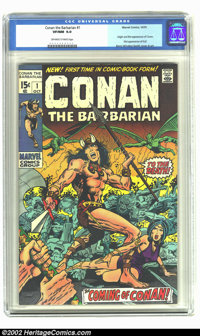 Conan The Barbarian #1 (Marvel, 1970) CGC VF/NM 9.0 Off-white to white pages. Overstreet 2002 NM 9.4 value = $300