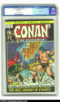 Conan The Barbarian #15 (Marvel, 1972) CGC NM 9.4 Off-white to white pages. Elric appearance; Barry Windsor-Smith cover...