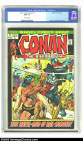 Bronze Age (1970-1979):Miscellaneous, Conan The Barbarian #17 (Marvel, 1972) CGC NM 9.4 Off-white pages.Kane art, Kane and Brunner cover. Overstreet 2002 NM 9.4 ...