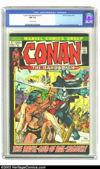 Conan The Barbarian #17 (Marvel, 1972) CGC NM 9.4 Off-white pages. Kane art, Kane and Brunner cover. Overstreet 2002 NM...