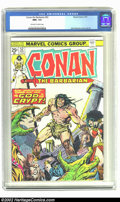 Bronze Age (1970-1979):Superhero, Conan The Barbarian #52 (Marvel, 1975) CGC NM+ 9.6 Off-white to white pages. John Buscema cover and art. Overstreet 2002 NM ...