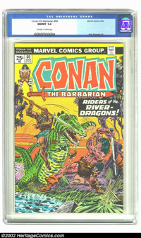 Conan The Barbarian #60 (Marvel, 1976) CGC NM/MT 9.8 Off-white to white pages. John Buscema art. Overstreet 2002 NM 9.4...