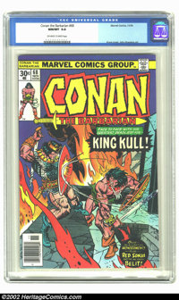 Conan The Barbarian #68 (Marvel, 1976) CGC NM/MT 9.8 Off-white to white pages. Kane cover, John Buscema art. Overstreet...