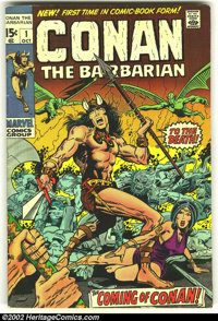 Conan The Barbarian Lot of 1-3 (Marvel, 1973). #1 is VG, #2 is FN and #3 is FN-. Overstreet value for group = $105.... (...
