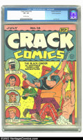 Golden Age (1938-1955):War, Crack Comics #14 Cosmic Aeroplane pedigree (Quality, 1941) CGC VF+8.5 Off-white pages. Featuring a vicious Black Condor tor...