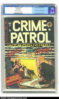 Crime Patrol #7 (#1) (EC, 1948) CGC VG 4.0 Cream to off-white pages. Small piece of tape on cover. Overstreet 2002 GD 2...