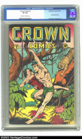 Golden Age (1938-1955):Adventure, Crown Comics #5 (Golfing, Inc., 1946) CGC VF 8.0 Off-white to white pages. Here is a beautifully high-grade copy of this rar...