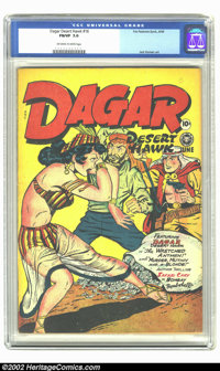 Dagar, Desert Hawk #16 (Fox Features Syndicate, 1948) CGC FN/VF 7.0 Off-white to white pages. This is a nice and tight c...