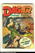 "Golden Age (1938-1955):Adventure, Dagar, Desert Hawk #21 (Fox Features Syndicate, 1948) Condition = GD/VG. ""Bombs and Bums Away"" panel in ""Flood of Death"" sto..."