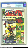 Silver Age (1956-1969):Superhero, Daredevil #1 (Marvel, 1964) CGC VF/NM 9.0 Off-white pages. Keyfirst issue of Daredevil. Daredevil is finally going to g...