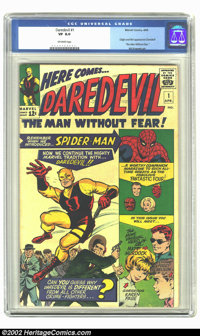 Daredevil #1 (Marvel, 1964) CGC VF 8.0 Off-white pages. After the introduction of a dizzying number of new Marvel superh...
