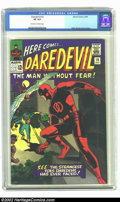 Silver Age (1956-1969):Superhero, Daredevil #10 (Marvel, 1965) CGC VF 8.0 Off-white to white pages. Overstreet 2002 VF 8.0 value = $100. ...