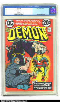 The Demon #4 (DC, 1972) CGC NM+ 9.6 White pages. Jack Kirby cover and art. Overstreet 2002 NM 9.4 value = $18