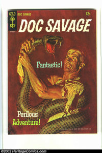Doc Savage #1 (Gold Key, 1966) Condition: VF/NM Off-white pages. Beautiful painted cover in fantastic condition. Overstr...