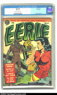 Eerie #5 Bethlehem pedigree (Avon, 1952) CGC FN+ 6.5 Cream to off-white pages. Fantastic mummy cover. Overstreet 2002 FN...