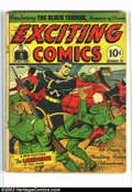 Golden Age (1938-1955):Superhero, Exciting Comics #18 (Nedor Publications, 1942) Condition = GD. Scarce early Black Terror with great WWII Japanese war cover....