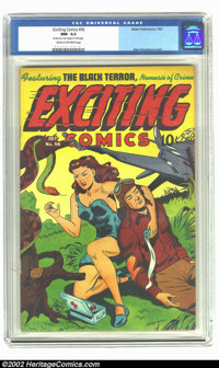Exciting Comics #56 (Nedor Publications, 1947) CGC NM- 9.2 Cream to off-white pages. This issue features a richly colore...
