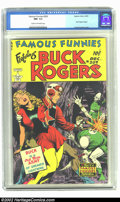 Golden Age (1938-1955):Science Fiction, Famous Funnies #209 (Eastern Color, 1953) CGC NM- 9.2 Cream tooff-white pages. Frank Frazetta began his series of stupendou...