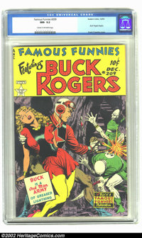 Famous Funnies #209 (Eastern Color, 1953) CGC NM- 9.2 Cream to off-white pages. Frank Frazetta began his series of stupe...
